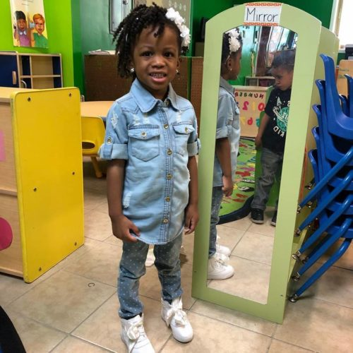 toddler at smarty pants learning center daycare in cleveland